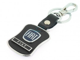 Fiat Keyring - Black surface - color dark blue - after market product