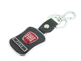 Fiat Keyring - Black surface - color red - after market product