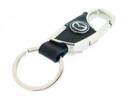 Keyring Mazda - imitation leather version - with lobster clasp - after market product