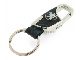 Keyring Peugeot - imitation leather version - with lobster clasp - after market product
