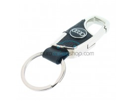 Keyring Audi - imitation leather version - with lobster clasp - after market product