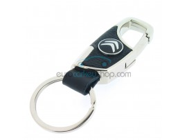 Keyring Citroen - imitation leather version - with lobster clasp - after market product