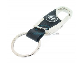 Keyring Hyundai - imitation leather version - with lobster clasp - after market product