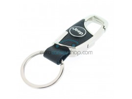 Keyring Jeep - imitation leather version - with lobster clasp - after market product
