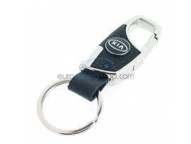 Keyring Kia - imitation leather version - with lobster clasp - after market product