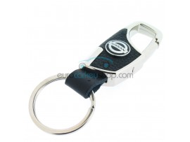 Keyring Nissan - imitation leather version - with lobster clasp - after market product