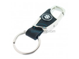 Keyring Suzuki - imitation leather version - with lobster clasp - after market product