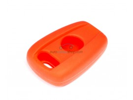 Key case Fiat - 2 button - material Soft Rubber - Color red - for itemnr FIA101 + 102 - after market product