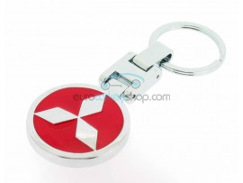 Mitsubishi Keyring - Luxery version - with logo on both sides - color red - after market product