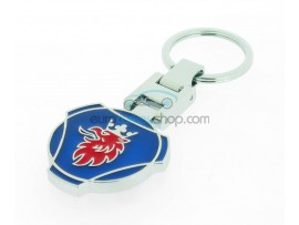 Saab Keyring - luxury version - with logo on both sides - after market product