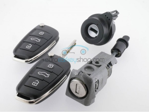 Lockset for Audi - 3 buttons - 8V0 837 220 - A3 - S3  (2012 - 2015 ) - OEM product