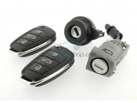 Lockset for Audi - 3 buttons - 8V0 837 220K - 8V0 837 220P - Keyless Go - A3 - RS3  (2015- ) - 434 Mhz - OEM product