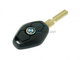 BMW 3 button remote key - 433 Mhz - EWS 3 System - 7935 chip - keyblade HU58 - after market product