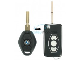 BMW 3 Button Flip Remote Key Case Shell for BMW103 - Key Blade HU58 - after market product
