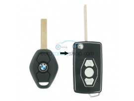BMW 3 Button Flip Remote Key Case Shell for BMW103 - Key Blade HU92R - after market product