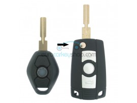BMW 3 Button Flip Remote Key Case for BMW104 - Key Blade HU58 - after market product
