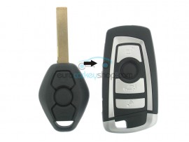 BMW Remote Key 3 buttons - 434 Mhz - PCF7935 Chip - Key Blade HU92R - F-Serie Design - after market product
