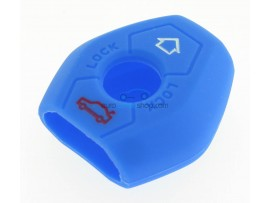 Key case BMW  - 3 button- material Soft Rubber- Color Blue - for articlenr BMW103-BMW104 - after market product