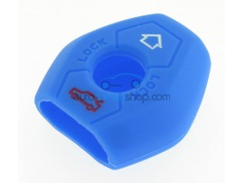 Key Cover BMW - 3 button- material Soft Rubber- Color Blue - for articlenr BMW103-BMW104 - after market product