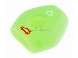 Key case BMW  - 3 button- material Soft Rubber- Color Green - for articlenr BMW103-BMW104 - after market product
