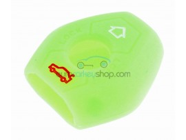 Key Cover BMW - 3 button- material Soft Rubber- Color Green - for articlenr BMW103-BMW104 - after market product