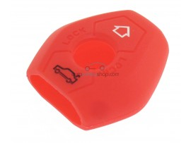 Key case BMW  - 3 button- material Soft Rubber- Color Red - for articlenr BMW103-BMW104 - after market product