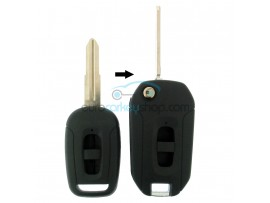 Chevrolet 2 Button Remote Flip Key Fob Case for item number CHE103 - key blade HU46 - with left groove - after market product