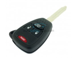 Chrysler - Dodge - Jeep - 3 Button Key Fob Remote Case + panic button - with push buttons - keyblade Y160 - after market product