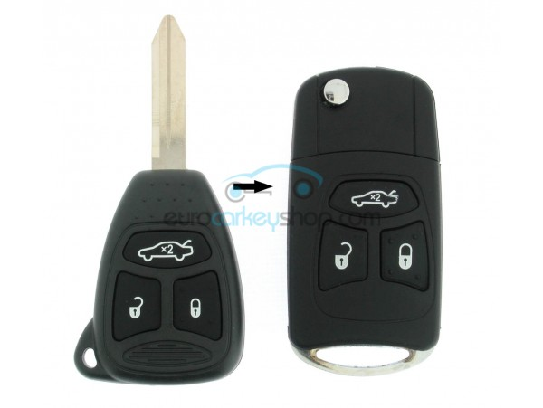 Jeep 3 Button Remote Flip Key Fob Case for item number JEE105A - after market product