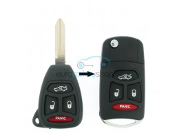 Chrysler - Dodge - Jeep - 3 Button Key Fob Remote Case + panic button - keyblade Y160 - after market product