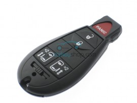 Chrysler - Dodge - Jeep Smartkey 4 Buttons - 433 Mhz - ID46 Chip - after market product