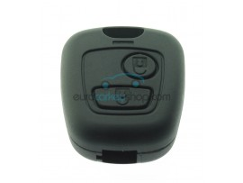 Citroën 2 button Remote Key Fob Case, with removable key blade SX9 ( CIT101B) - after market product