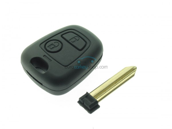 Citro 235 N 2 Button Remote Key Fob Case With Removable Key