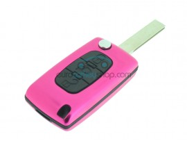 Citroen 3 Button Flip Remote Key Fob Case - several colors - after market product