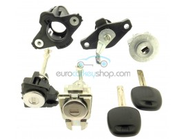 Complete lock set for Citroen C1 - (2014- ) - for models without remote control - OEM product