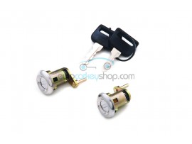 Complete set doorlocks with 2 keys for Citroën C15 - AX - BX (RH-LH) - Neiman - keyblade SX9- OEM product