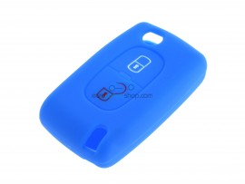 Key case Fiat - 2 button- material Soft Rubber- Color BLUE - after market product