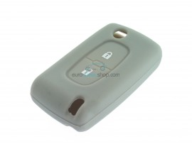 Key case Fiat - 2 button- material Soft Rubber- Color GRAY - after market product