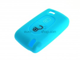 Key Cover Fiat - 2 button- material Soft Rubber- Color BLUE - after market product