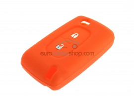 Key Cover Fiat - 2 button- material Soft Rubber- Color ORANGE - after market product
