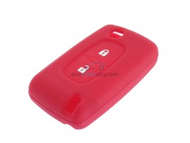 Key case Fiat - 2 button- material Soft Rubber- Color RED - after market product