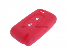 Key Cover Citroen- 2 button- material Soft Rubber- Color RED - after market product