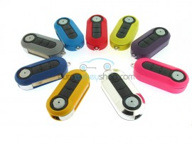Fiat 3 Button Flip Remote Key for Fiat 500 and Punto - key blade SIP22 - different colors - after market product