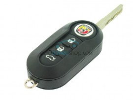 Abarth 3 Button Flip Remote Key - 434 Mhz - ID46 chip - Delphi - Key Blade SIP22 - OEM Product