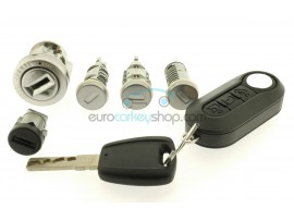Complete Fiat Lock set for 500, Punto a.o. - OEM product