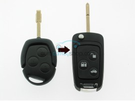 Ford 3 Button Remote Flip Key Fob Case for item number FRD103 - keyblade FO21 - after market product