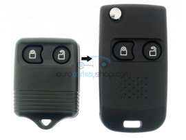 Ford 2 Button Remote Flip Key Fob Case for item number FRD117 - keyblade FO21 - after market product