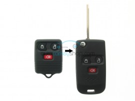 Ford 3 Button Remote Flip Key Fob Case for item number FRD111 and ignition key - key blade FO38R - after market product