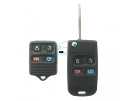 Ford 4 Button Remote Flip Key Fob Case for item number FRD120 - key blade FO38R - after market product