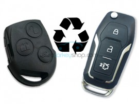 Ford 3 Button Remote Flip Key - an alternative for FRD135/FRD135A - Key Blade HU101 - after market product